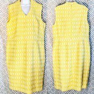 Kasper Dresses - Kasper Yellow Shift Dress Sleeveless Women Plus 18